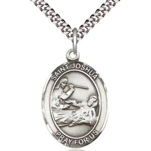 Sterling Silver St Joshua Pendant